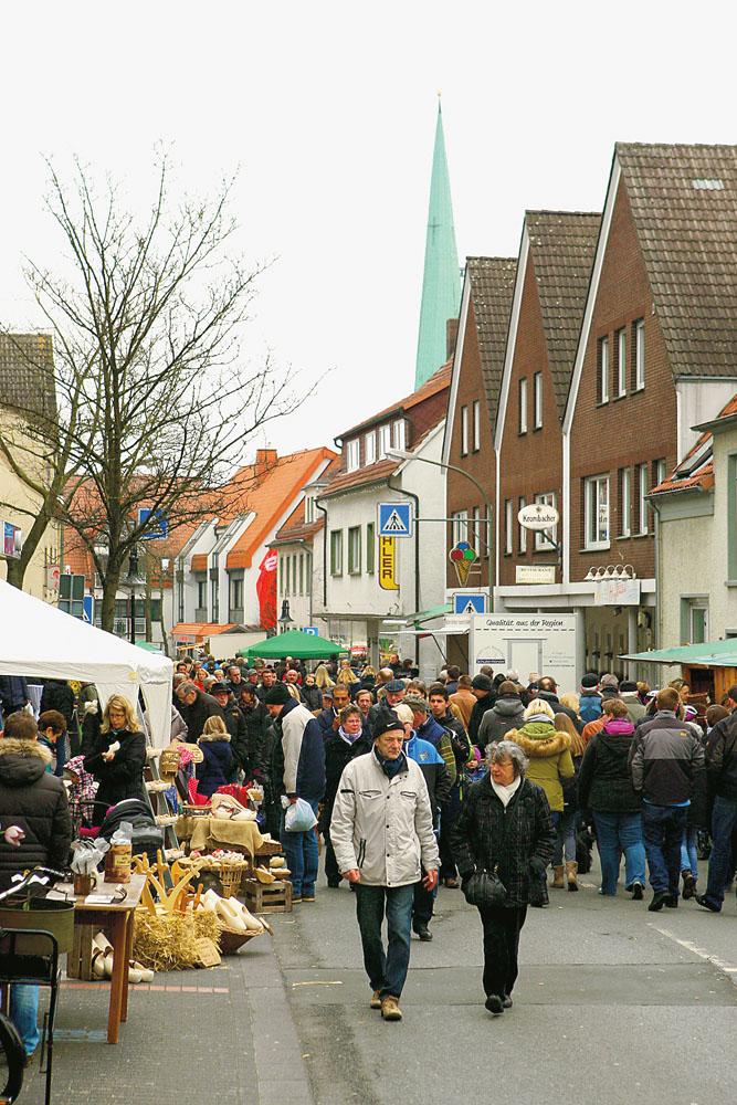 Das Wetter war zwar alles andere als toll, aber die Besucher kamen trotzdem zum Frühlingsmarkt.