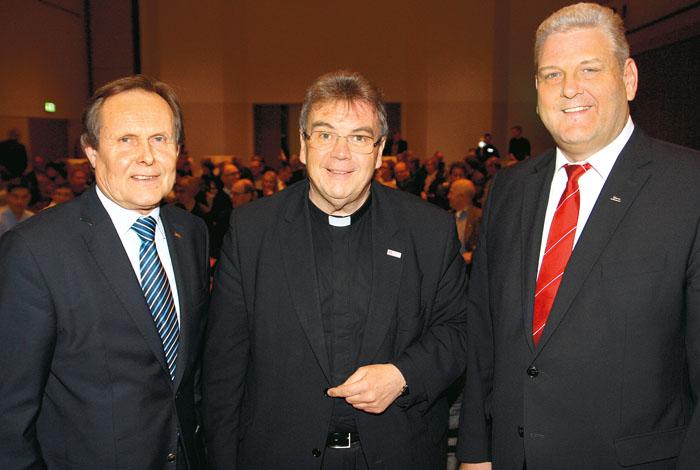 Zum elften Neujahrsempfang der Delbrücker Marketinggemeinschaft begrüßte der Vorsitzende Meinolf Päsch Gastredner Montsig