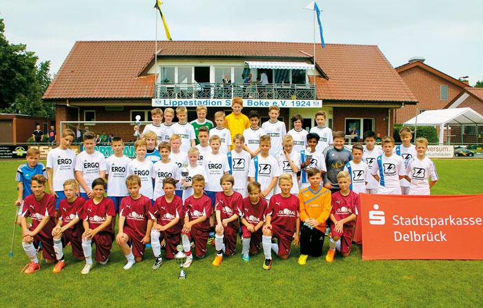 Rückblick auf das vergangene Jahr: Bei den D-Jugendlichen behauptete sich der Delbrücker SC.