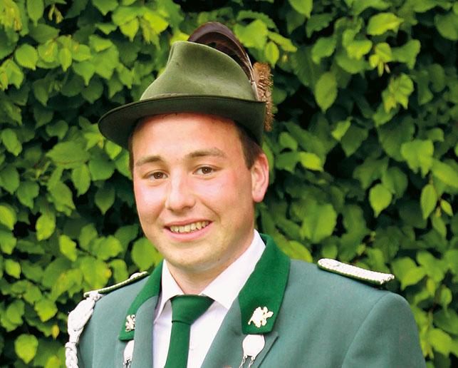 Daniel Nölkensmeier regierte ein Jahr lang die Jungschützen.