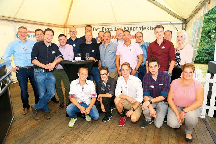 Das Team vom Bauzentrum Westerhorstmann empfing die Kunden diesmal in der Katharinenmarktlounge.