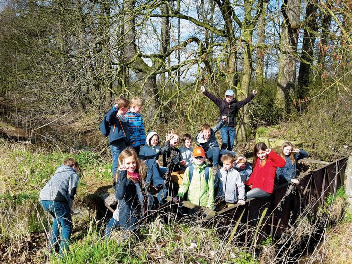 Auch die jüngsten Teilnehmer hatten großen Spaß und erkundeten in den Wanderpausen selbstständig ihre Heimat. Dabei gab e