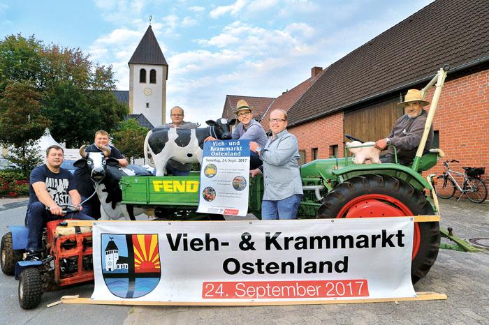 Herzliche Einladung zum Ostenländer Vieh- und Krammarkt: Markus Bade, Uwe Höwekenmeier, Markus Keimer, Thomas Wigge, Michae