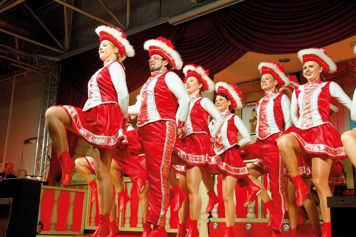 Die Turmfalken gehörten neuerlich zu den Garanten für tolle Tänze mit schwungvollen Choreographien und wurden bejubelt. Fo