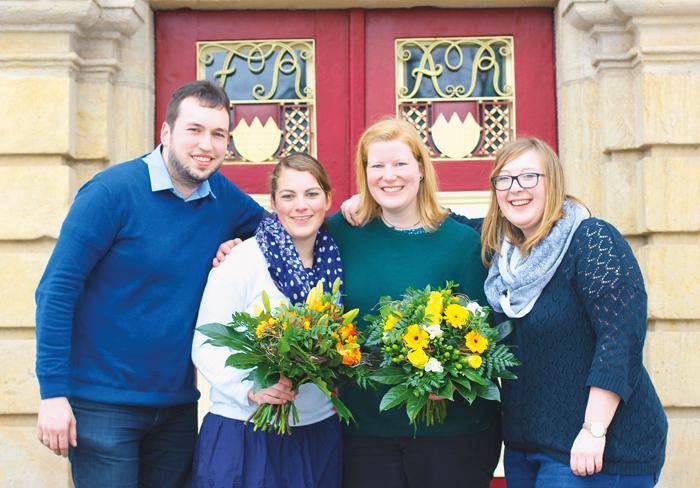 Stephan Barthelme, Carola Lutz, Sarah Schulte-Döinghaus und Stephanie Rothermel  bilden gemeinsam den Bundesvorstand der KLJ