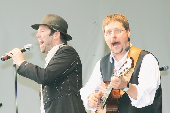Leopold Altenburg (links) und Bühnenpartner Thorsten Wadowski gehen getrennte Wege, Altenburg ist nach Berlin umgesiedelt, e
