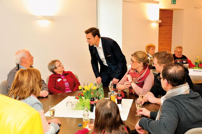Bürgermeister Andreas Sunder freute sich über  die große Resonanz auf den traditionellen Neubürgerempfang der Emsstadt im