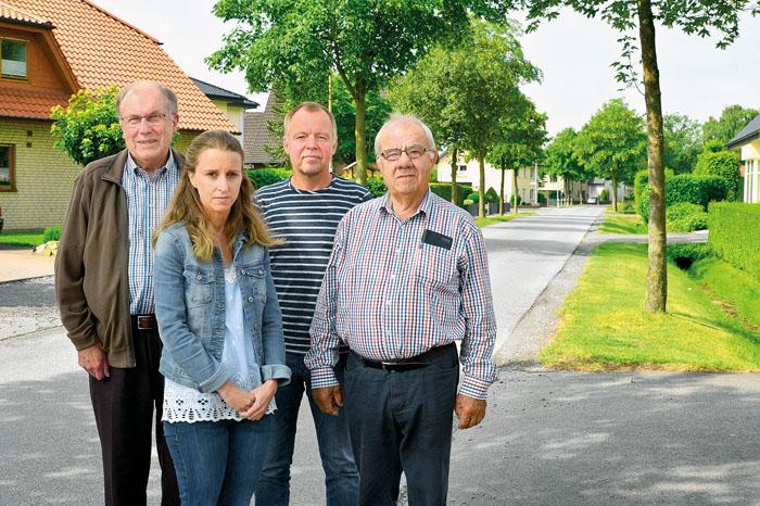 Bernhard Scheller, Marina Urban, Hansi Austerfeld und Reinhold Hartmann (v.l.) setzen sich mit drei weiteren Mitstreitern daf