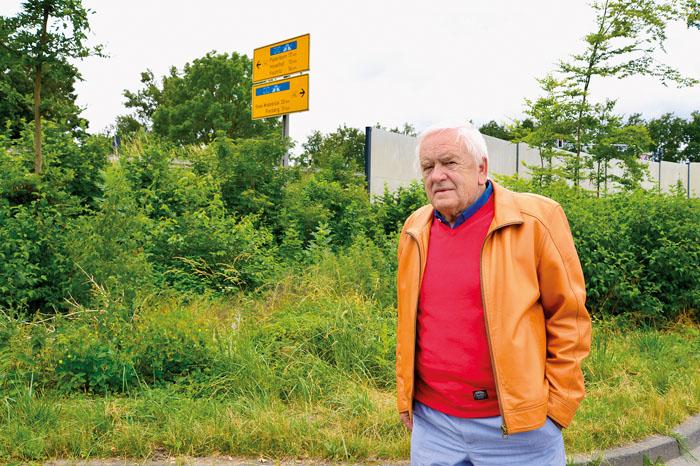 Seit mehr als 40 Jahren hat Egon Schönbach an vorderster Front für die Lärmschutzwand gekämpft. Foto: DSA/Addicks