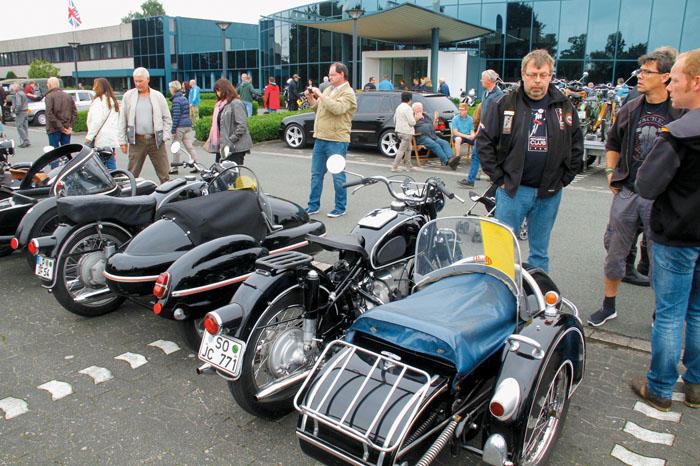 Auch historische Motorräder mit und ohne Beiwagen werden beim großen Treffen in Mastholte wie schon im Vorjahr zu bewundern