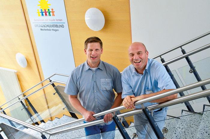 Schulleiter Andreas Potthast (rechts) und Ulrich Diekmann (Geschäftsführer Sozialwerk Sauerland) möchten über das Konzept