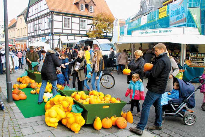 Ohne die orange leuchtenden Früchte geht am Kürbissonntag nichts in Rietberg. Foto: RSA/Archiv
