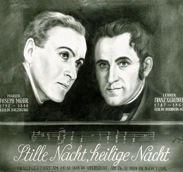 Texter und Komponist, die vor 200 Jahren einen Welthit schrieben Abbildung: © Stille Nacht Museum Hallein | Stille Nacht Ar