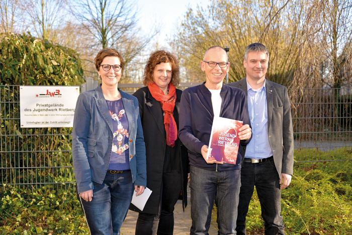 Das Leitungsteam des Rietberger Jugendwerks, bestehend aus Simone Burwinkel (v.l.), Ingrid Landwehrjohann, Adolf Salmen und T