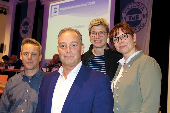 ohe Ziele vom neuen Vorstandsquartett: (vl.) Christoph Kloock, Frank Motsakos, Beate Niermann und Gabi Liebig wolen das Ehren
