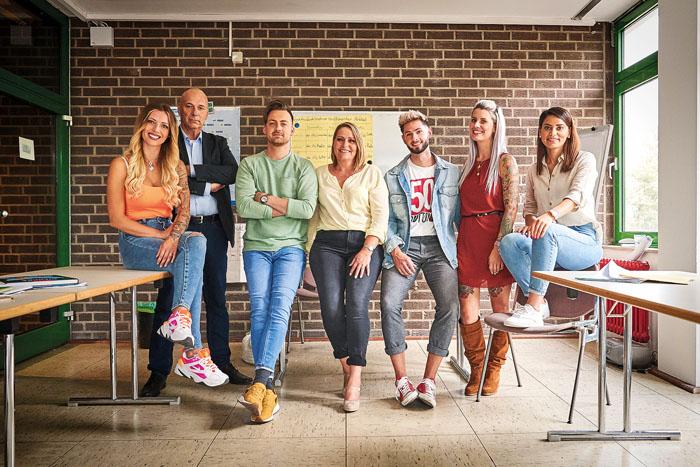 Sarah Özdemir (rechts) mit ihren Schauspielkollegen Aline Jost-Di Raimondo (v.l.), Ingo Wimmer, Thomas Adamek, Renate Dempew