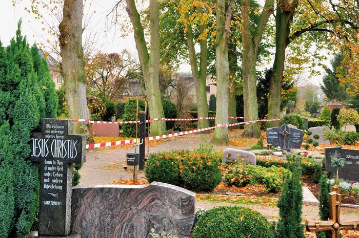Damit begann der Ärger. Die Linden auf dem Friedhof am Johannesweg wollte die kath. Kirchengemeinde aus Sicherheitsgründen