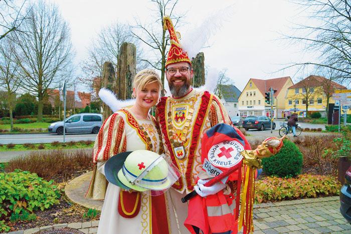 Karin I. Lummer und Michael IV. Sellemerten freuen sich auf die gemeinsame närrische Zeit auf dem Thron der GKGR. Der Prinz