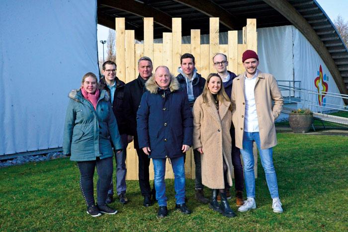 Präsentieren die neue Idee: Bianca Piekatz (v.l.), Johannes Wiethoff (beide vom Kulturigverein), Wolfgang Hillemeier (Volksb