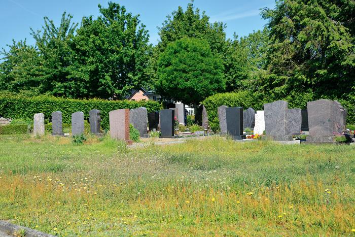 Die Rasenfläche hinter den Urnengräbern ist einigen Friedhofsbesuchern ein Dorn im Auge. Zwei Tage nach dieser Aufnahme wur