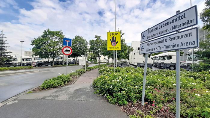 Stillstand bei der Firma Tönnies: Nachdem die hohen Infektionszahlen bekannt wurden, verfügte die Kreisverwaltung einen sof