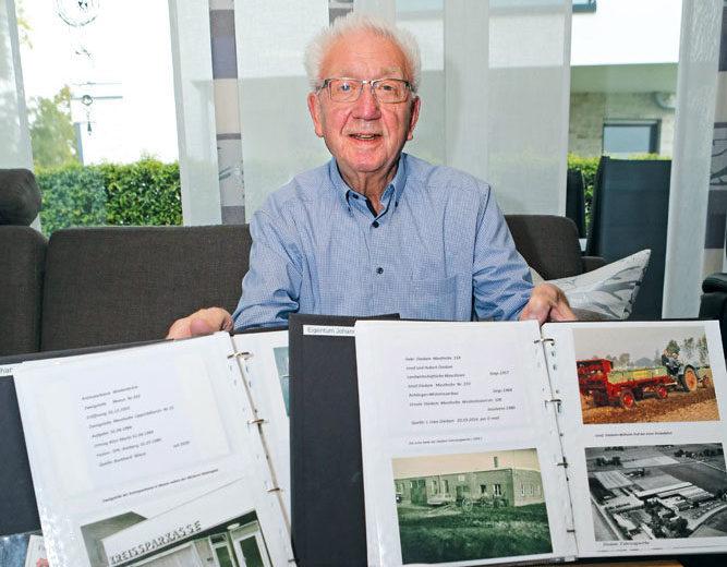 Franz Sellemerten hat viele Dorf- und Vereinsgeschichten aus seiner Heimat fein säuberlich archiviert. Foto: RSA/Steg