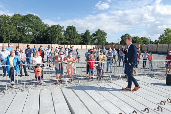 Großes Interesse zeigten viele Rietberger, als Bürgermeister Andreas Sunder über den Stand und das weitere Vorgehen des Gy