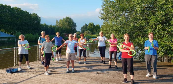 In den Sommermonaten konnten viele der Kurse der Kfd-Sportiv-Gruppe im Freien abgehalten werden. Insgesamt erfreut sich die G