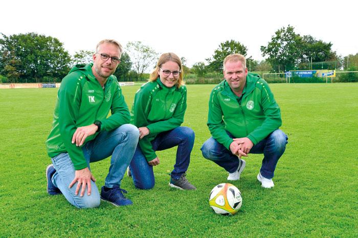 Thilo Kommescher (v.l.), Carina Merschbrock und Frank Schulte-Tickmann haben in der Corona-Zeit den Vereinsvorsitz übernomme
