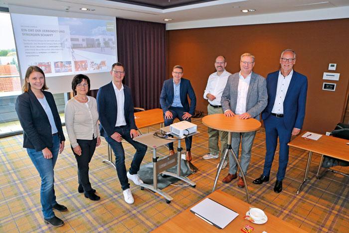 Anja Niehaus,Renate Pörtner, Christian Terhechte, Andreas Sunder, Alexander Kostka, Markus Hüllmann und Heiner Wortmann sin